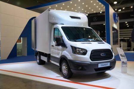 Ford Transit truck at auto show