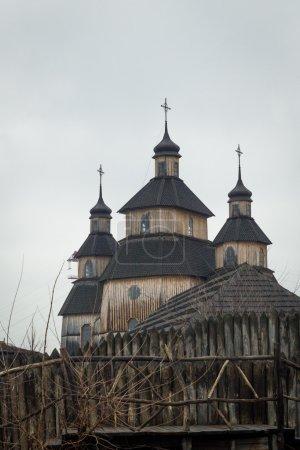 Wooden Church in fortified settlement of Ukrainian Cossacks 16-1