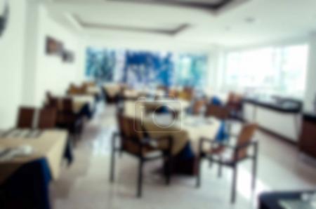 Abstract blur Interior restaurant Background....