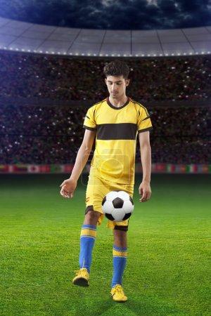 Footballer on the field