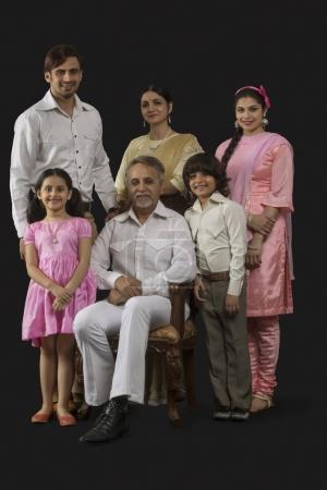 Indian multi-generation family