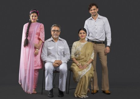 Indian two generation family