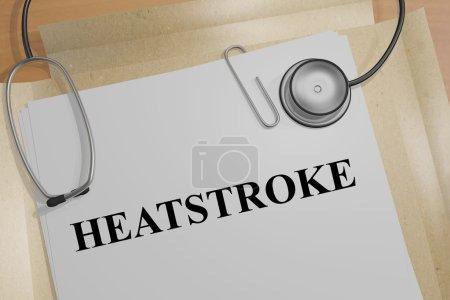 Heatstroke - medical concept