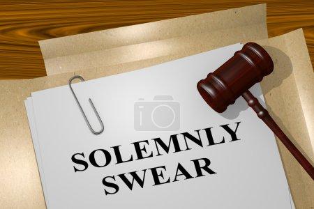 feierlich vereidigter Titel auf juristischem Dokument