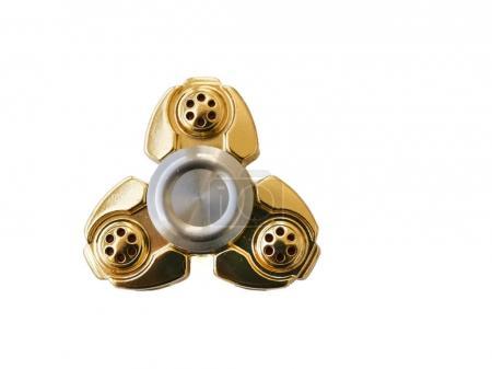 Fidget spinner golden isolated on white