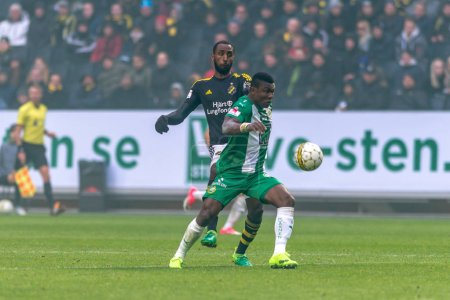 Goitom and Dibba at the derby game between AIK and Hammarby IF a