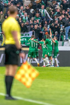 Derby game between AIK and Hammarby IF at the national stadium F
