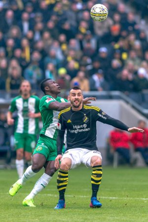Pa Dibba at the derby match between AIK and Hammarby IF at the n