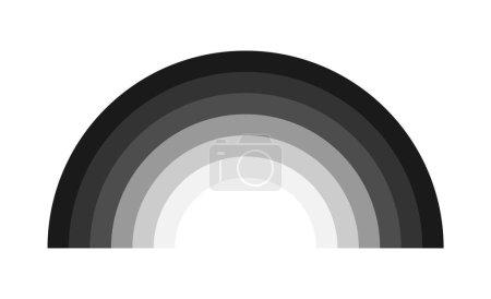 Rainbow decorative icon vector, isolated on backgr...
