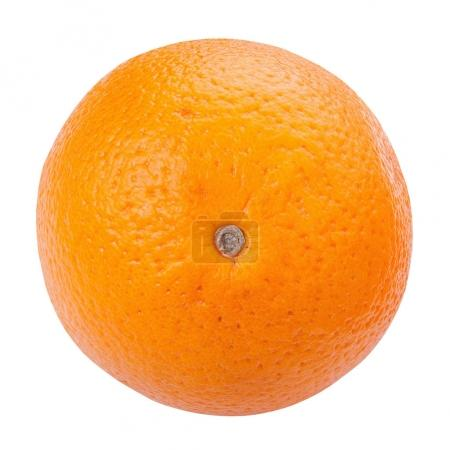 Photo for Ripe orange isolated on white background, way  in path - Royalty Free Image