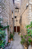 Narrow street in the old village Tourrettes-sur-Loup