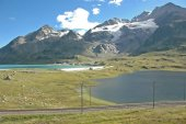The view from the Bernina Pass