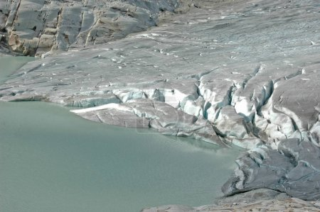 The Rhone Glacier, feeds the source
