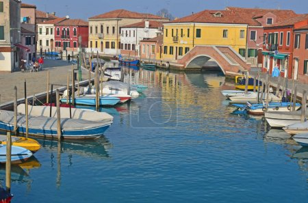 Canal running through the centre of the island of Murano