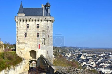 Chinon castle which belonged to England