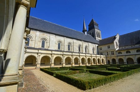 renaissance abbey with a cloistered garden.
