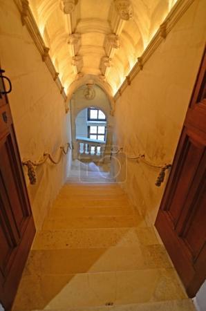 elegant stone staircase