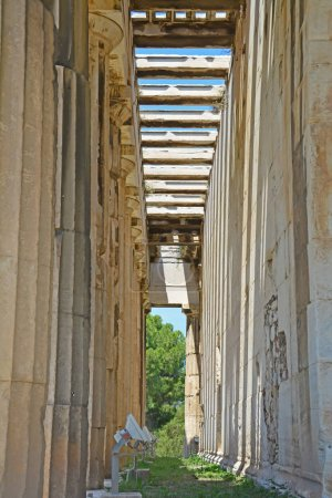 Inside the Temple of Hephaestus
