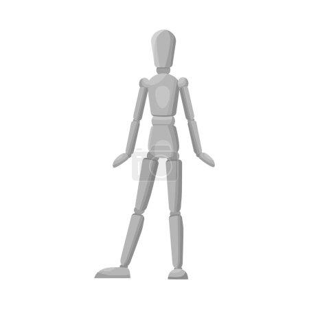 Illustration pour Illustration vectorielle du logo mannequin et masculin. Élément Web de l'illustration vectorielle du mannequin et du tailleur . - image libre de droit