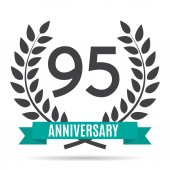 Template 95 Years Anniversary Vector Illustration EPS10