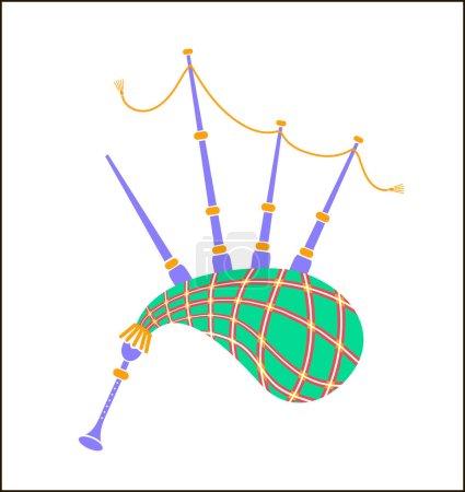 Bagpipes icon  illustration