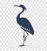 silhouette heron stork bird black