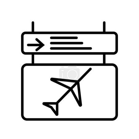 Airport board icon vector illustration...