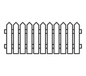 Wooden Fence silhouette isolated vector symbol icon design Beau