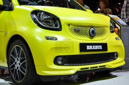 Yellow Brabus smart fortwo cabrio