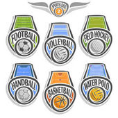 Vector set sports logo with ball