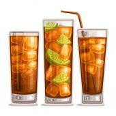 Vector set of fizzy Drinks