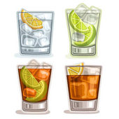 Vector set of short Drinks