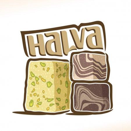 Vector logo for turkish Halva