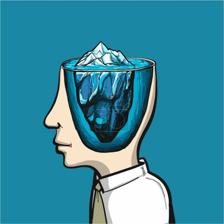 Glacier of conscious and subconscious in head