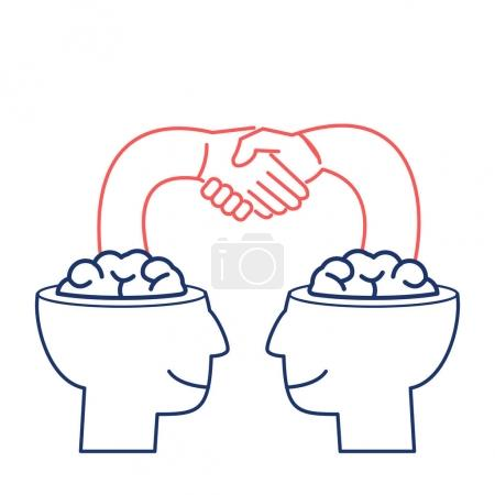 Start up. business illustration of handshake
