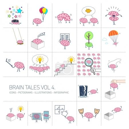 Brain tales volume 4, Vector concept illustrations...