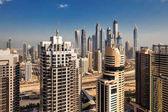 A skyline view of Jumeirah Lakes Towers, Dubai, UAE