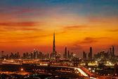 A beautiful skyline view of Dubai, UAE as viewed from Dubai Festival City