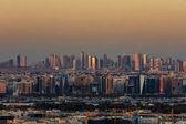 A skyline view of Deira Dubai, UAE and Sharjah