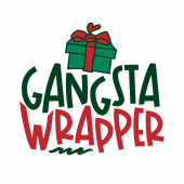 Grangsta Wrapper - Calligraphy phrase for Christmas Hand drawn lettering for Xmas greetings cards invitations Good for t-shirt mug scrap booking gift printing press Holiday quotes