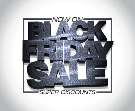 Black friday sale design, super discounts now on, clearance banner mock up