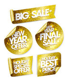 Golden stickers big sale new year offer new year final sale holiday special offer holiday best price