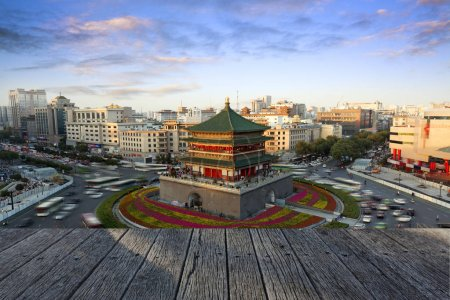 Photo for Xi'an city building, urban, travel - Royalty Free Image