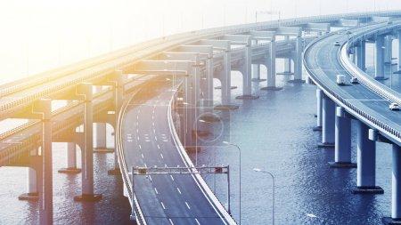 Photo for Sea crossing bridge, architecture - Royalty Free Image