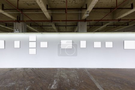 Photo for Indoor exhibition wall, interior - Royalty Free Image