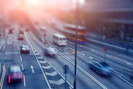 Photo for Traffic to the city road - Royalty Free Image