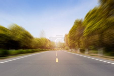 Photo for Modern countryside  road. travel - Royalty Free Image