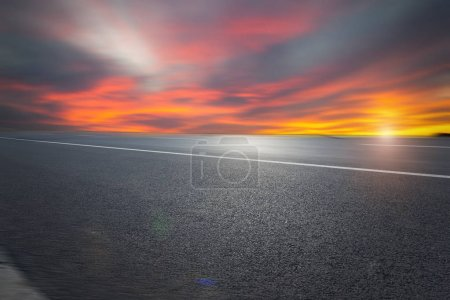 Photo for Asphalt road and sky - Royalty Free Image