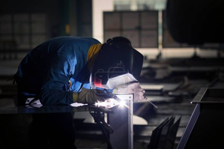 Photo for Welding worker at work, profession - Royalty Free Image