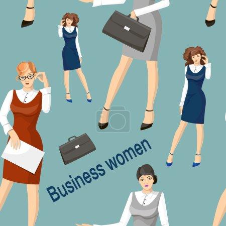 Business women set pattern